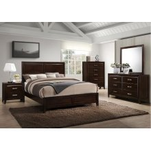 1006 Agathis King Bed with Dresser & Mirror