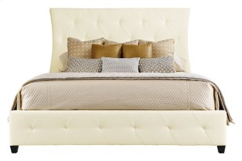 King-Sized Jet Set Leather Upholstered Bed in Jet Set Caviar (356) Product Image
