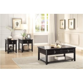 Cocktail Table with Lift-Top on Casters