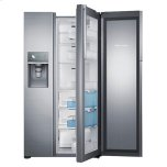 "36"" Wide, 22 cu. ft. Capacity Counter Depth Side-by-Side Food ShowCase Refrigerator with Metal Cooling (Stainless Steel)"