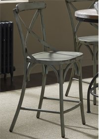 X Back Counter Chair - Green Product Image