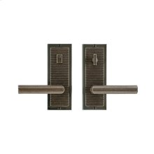 "Flute Privacy Set - 3"" x 8"" White Bronze Medium"