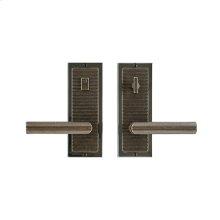 "Flute Privacy Set - 3"" x 8"" Bronze Dark Lustre"