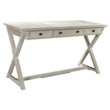 Bengal Manor Acacia Wood White Wash 3 Drawer Desk