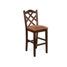 "30""H Santa Fe Double Crossback Barstool w/ Cushion Seat"