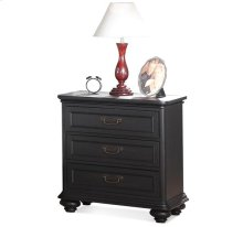 Belmeade Three Drawer Nightstand Raven Black finish