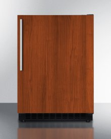 Built-in Undercounter ADA Compliant All-refrigerator With Panel-ready Door, Black Cabinet, Door Storage, and Digital Controls