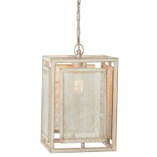 Whitewash Screen Lantern Pendant. 60W Max. Hard Wire Only.