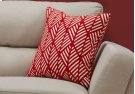 "PILLOW - 18""X 18"" / RED GEOMETRIC DESIGN / 1PC Product Image"
