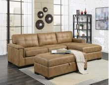 2 PIECE SECTIONAL (PLUS FREE STORAGE OTTOMAN!)