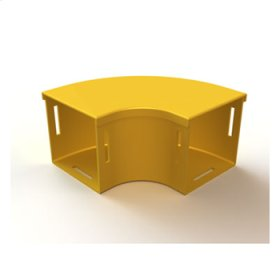 "Mighty Mo Fiber Raceway, Horizontal Elbow with cover, 90deg, 8"" x 4"", yellow"
