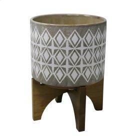 Outdoor Citronella Candle In Ceramic , Gray