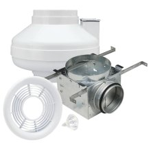 Inline Exhaust Fan Kit with Light