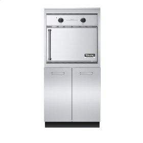 """32"""" W x 30"""" D Storage and Smoker Oven Tower - VEUO (32"""" wide - Electric Smoker Oven Tower with Storage Access)"""