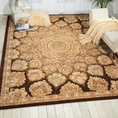 Nourison 2000 2318 Brn Rectangle Rug 8'6'' X 11'6''
