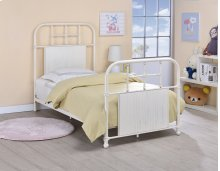 Cheriton Bed - Twin, Antique White Finish
