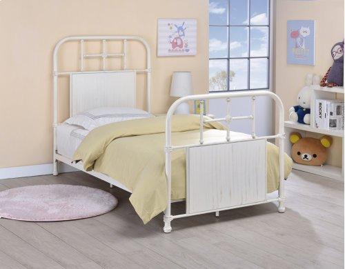 Cheriton Bed - Twin, Antique White Finish