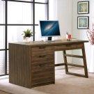Perspectives - Single Pedestal Desk - Brushed Acacia Finish Product Image