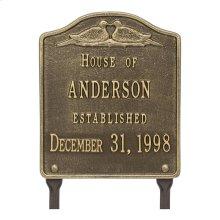 Dove Wedding Anniversary Personalized Plaque - Antique Brass
