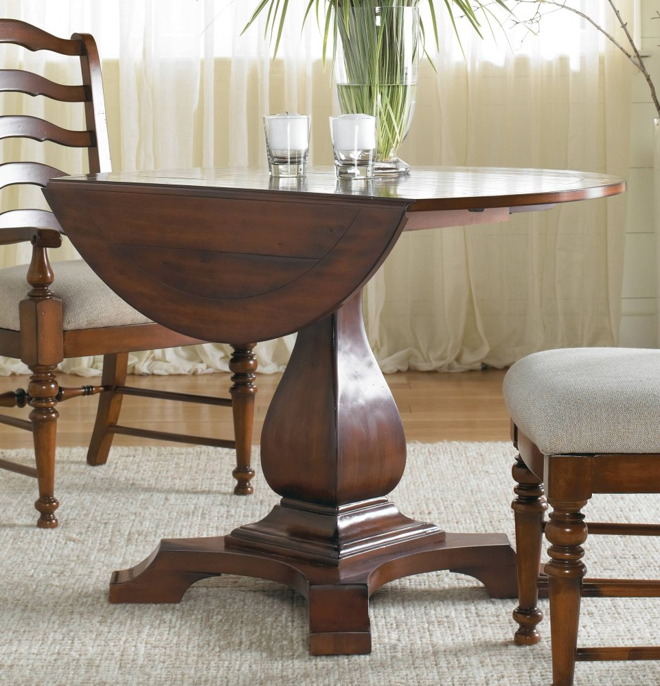 Charming Additional Waverly Place Round Drop Leaf Pedestal Table ...