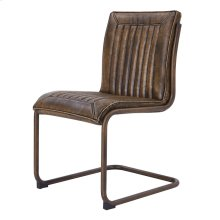 Cooper PU Chair Rubbed Gold Frame, Distressed Bronze *NEW*
