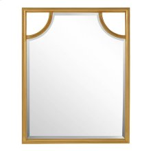 Virage Portrait Mirror in Antique Gold Leaf