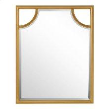 Virage Portrait Mirror in Antique Gold Leaf