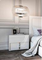 Modrest Nicla Italian Modern White Nightstand Product Image