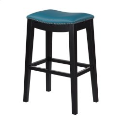 30'' Bar Stool W/no Back-kd-pu Teal#al850-10 (2/ctn) Product Image