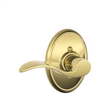 Accent Lever with Wakefield trim Non-turning Lock - Bright Brass