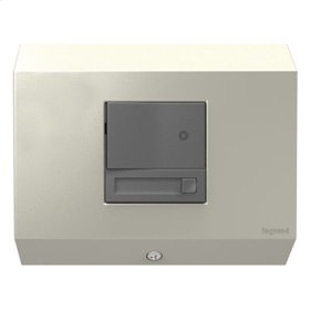Control Box with Paddle Dimmer, Titanium
