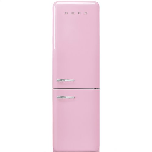 50'S Retro Style refrigerator with automatic freezer, Pink, Right hand hinge