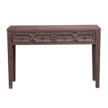 Two Drawer Acnt Strg Console Table