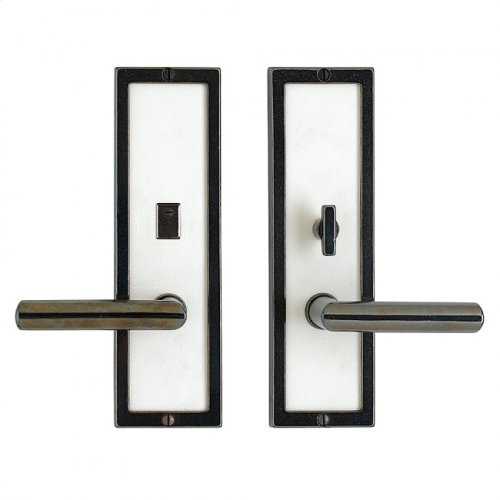 """Designer Privacy Set - 3"""" x 10"""" Silicon Bronze Brushed with Basic"""