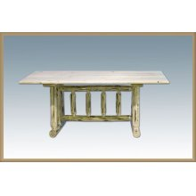 Montana Log Trestle Dining Table