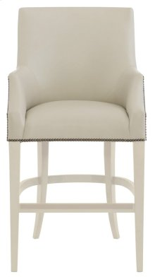 Keeley Leather Counter Stool in Chalk