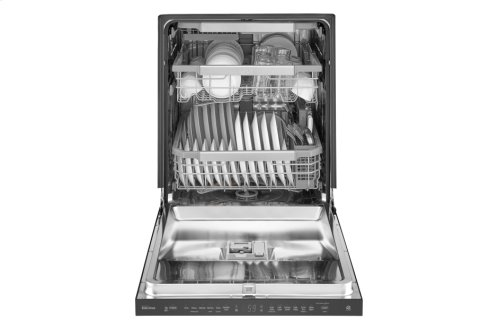 LG Matte Black Stainless Steel Top Control Dishwasher with QuadWash and EasyRack Plus