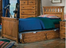 Twin Panel Bed With Turned Logs Shown With Optional Trundle