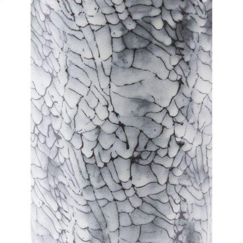 Marbled Sm Vase Black & White