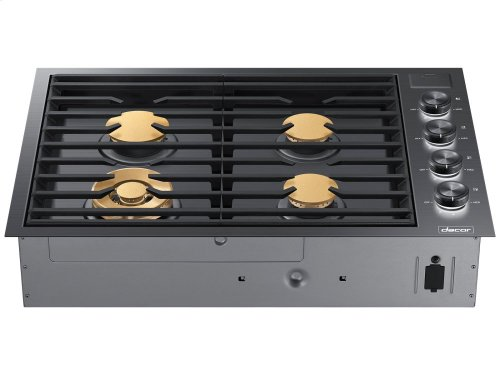 """30"""" Drop-In Gas Cooktop, Stainless Steel, Natural Gas"""