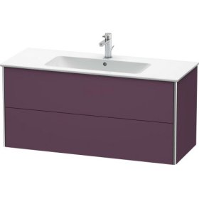 Vanity Unit Wall-mounted, Aubergine Satin Matt Lacquer