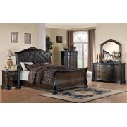 Maddison Brown Cherry King Five-piece Bedroom Set Product Image