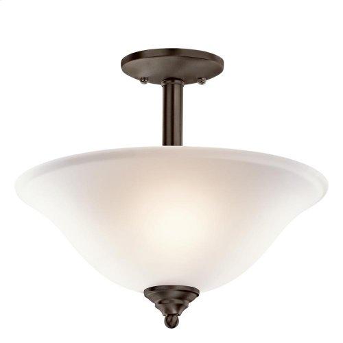 Armida Collection Armida 2 Light Semi Flush/Inverted Pendant NI