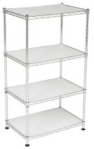 Jules Adjustable Chrome Wire Mini Rack - Chrome Product Image