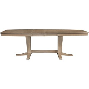 JOHN THOMAS FURNITUREMilano Double Pedestal Extension Table in Taupe Gray