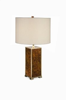 Michel Walnut Burl Table Lamp