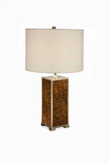Michel Walnut Burl Table Lamp