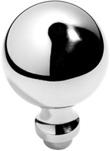"""Antique Brass Unlacquered Profile door knobs pair, 1 3/4"""" diameter"""