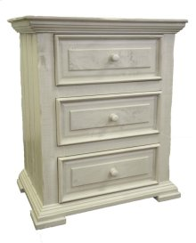 Terra White Nightstand