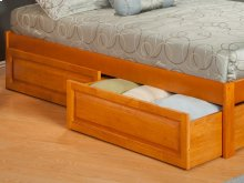Two Raised Panel Bed Drawers Twin/Full in Caramel Latte